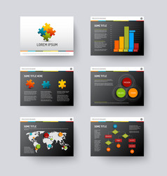 Template for presentation slides vector