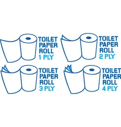 Toilet paper icon set vector