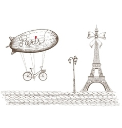 Vintage of paris vector