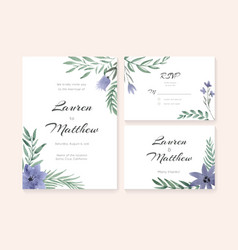 Wedding Cards Collection vector image vector image