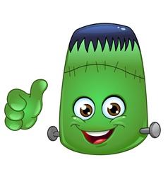 frankenstein emoticon vector image