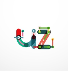 Letter concept vector