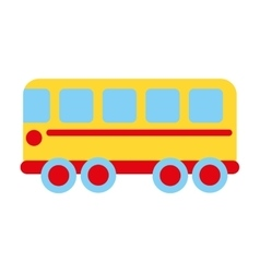 Bus school toy icon vector