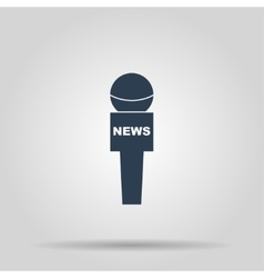 News microphone icon vector