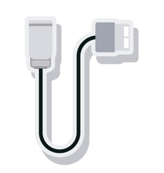 Wire cable usb connection isolated icon vector