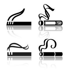 Set of signs cigarettes vector