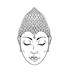 Zentangle portrait of buddha for ornamental vector