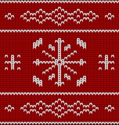 Knit pattern model vector image