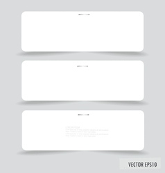 Collection of various white note papers vector image