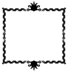 Oldstyle ribbon frame vector image