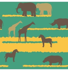 Seamless pattern with african animals vector image