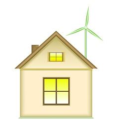 Home wind turbine renewable energy concept vector image