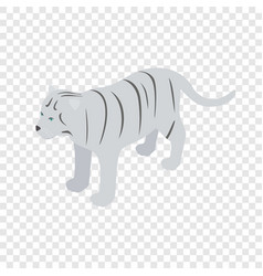 white tiger isometric icon vector image