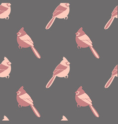 Seamless pattern texture with birds vector