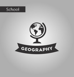 black and white style icon geography lesson vector image