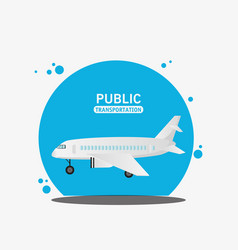 air craft fly public transport vector image
