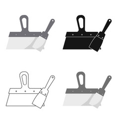 Putty knives icon in cartoon style isolated on vector