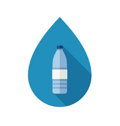 Bottle with water vector