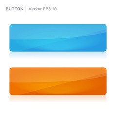 Button template web blue and orange vector