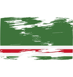 Flag of chechen republic of ichkeria with old vector