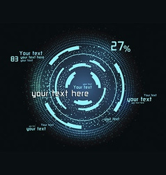 Green infographics as head-up display vector image