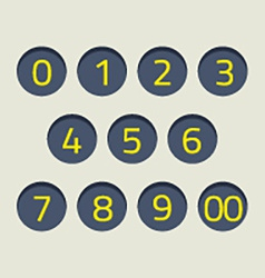 Modern style numbers set vector