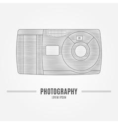 Old camera - branding identity element isolated vector