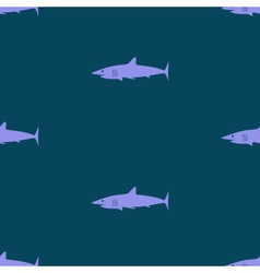 Dark blue sea shark fish seamless pattern eps10 vector