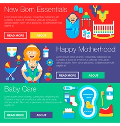 Happy motherhood banners vector