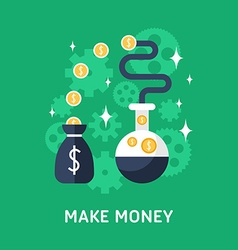 Flat design business make money vector