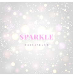 Light silver sparkle background vector