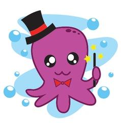 Magician Octopus vector image