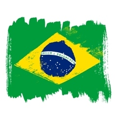 Big drawn flag of brazil vector