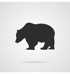 Gray silhouette of bear vector