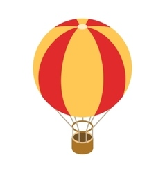 Balloon icon isometric 3d style vector