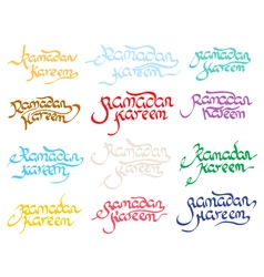 Collection of ramadan kareem vector