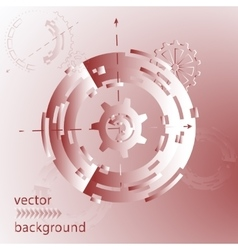 Abstract futuristic for vector image
