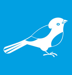 bird icon white vector image