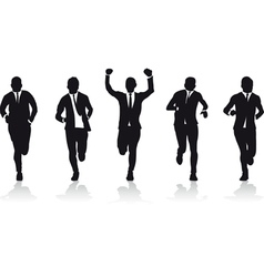 business men running vector image vector image