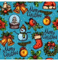 Christmas Color Seamless Pattern vector image