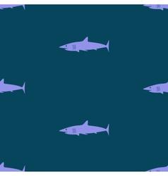 Dark blue sea shark fish seamless pattern eps10 vector