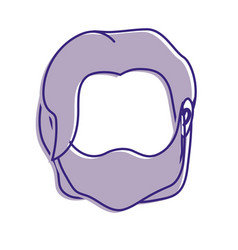 Default avatar man to social user vector