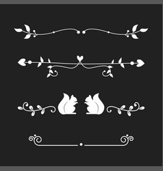 dividers calligraphic line element vector image vector image