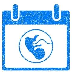 Embryo calendar day grainy texture icon vector