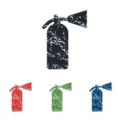 Fire extinguisher grunge icon set vector