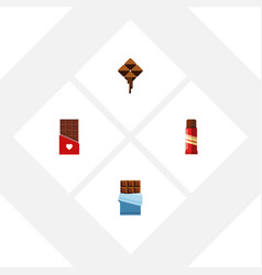 Flat icon bitter set of chocolate bitter sweet vector