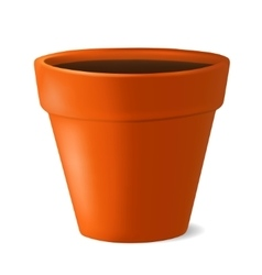 Flowerpot with ground vector image vector image
