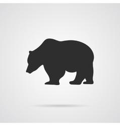 Gray silhouette of bear vector
