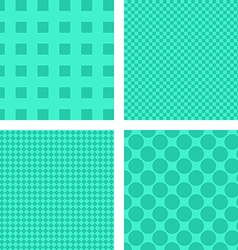 Green abstract geometric shape wallpaper set vector