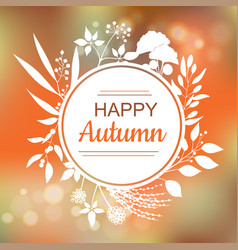 happy autumn card design vector image vector image